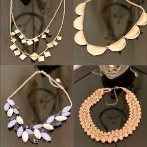 Lot of 4 gorgeous statement necklaces